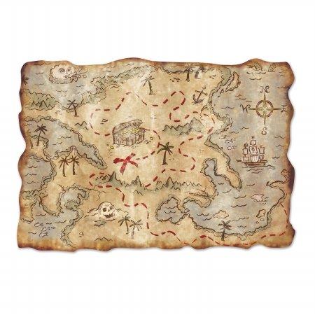 Price comparison product image Beistle DDI 1906510 Jumbo Treasure Map Cutout Case of 12