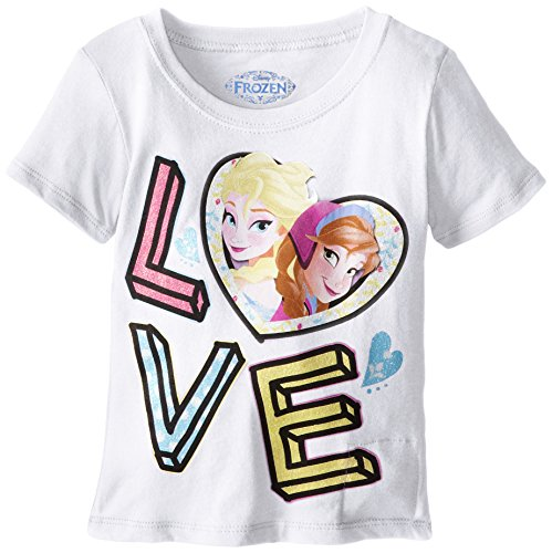 Extreme Concepts Little Girls' Frozen Singing I-Talk Love Tee, White, 6X