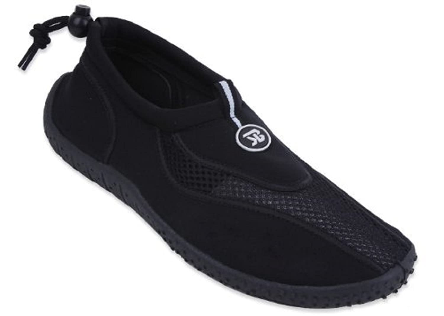 The Wave New Mens Slip on Water Pool Beach Shoes Aqua Socks 5 Colors Available 9, 5907Black