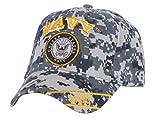 US Navy Anchor Blue Digital Camo Adjustable Cap