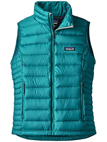 Patagonia W's Down Sweater Vest Elwha Blue (Elwha Blue) (Patagonia Womens Down Vest Apparel)