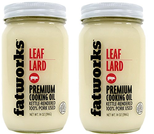 Pure Pork Leaf Lard, Free Range & Pasture Raised, 14oz (2 Jars)