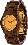 Maui Kool Wooden Watch Hana Collection For Women Analog Wood Watch Bamboo Gift Box (B7 - Sandalwood Orange)