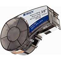 Brady High Adhesion Cloth Label Tape (M21-375-499) - Black On White Nylon - Compatible with BMP21-PLUS, ID PAL, and LABPAL Printers - 16 Length, 0.375 Width