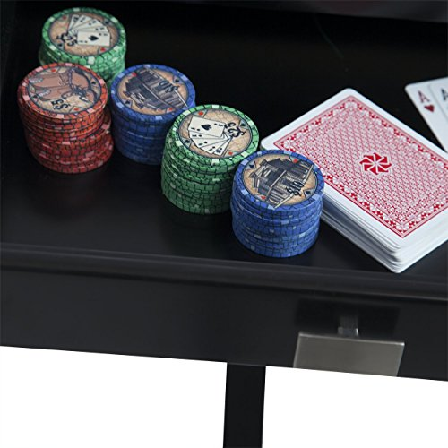 BBO Poker Levity Game and Poker Table for 4 Players with Black Speed Cloth Playing Surface, 40.5-Inch Square, Includes 4 Dining Chairs by BBO Poker (Image #12)