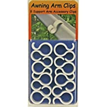 RV Awinng Support Arm Accessory Clips, Pack of 8