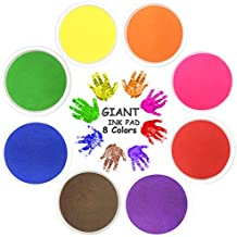Stamp Pad NISHLEY Ink Pad Stamps Big Size Stamp ink Pad Water-Soluble 8 Colors for Rubber Stamp DIY Scrapbooking Finger Paint-Pack of 8