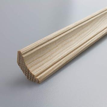 Ornamentales Paleta (con moldura Paleta abschluss (suelo de madera de pino maciza de madera 2100 x 18 x 18 mm: Amazon.es: Bricolaje y herramientas