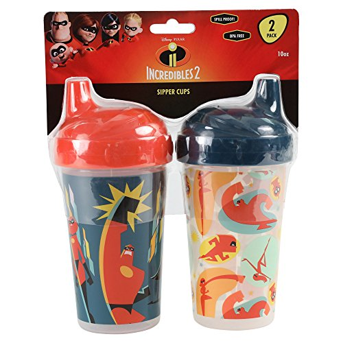 Disney Pixar Incredibles 2 Hard Spout Sippy Cups, Multi, 2 Count