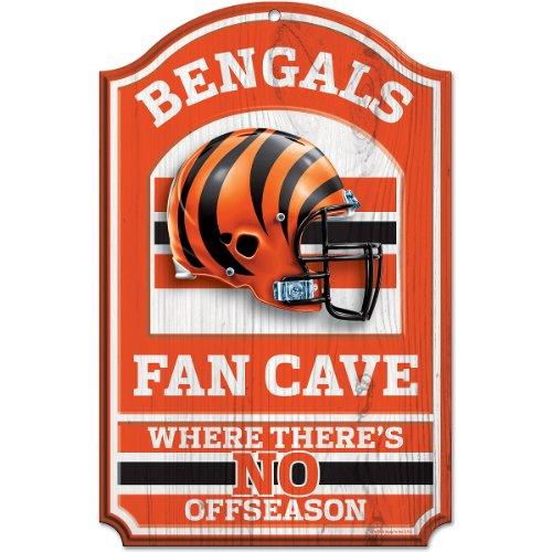 NFL Cincinnati Bengals Fan Cave Wood Sign, 11