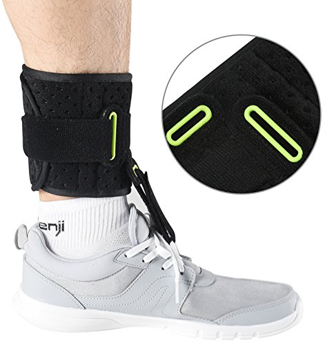 Ankle Support Drop Foot Brace Orthosis - Comfort Cushioned Adjustable Wrap Compression for Improved Walking Gait, Prevents Cramps Ankle Sprains