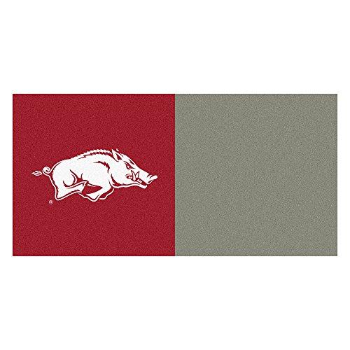 (FANMATS NCAA University of Arkansas Razorbacks Nylon Face Team Carpet Tiles)