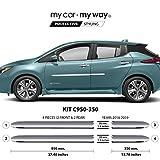 Nissan Leaf Chrome Body Side Moldings - MY CAR MY WAY (Fits) Nissan Leaf 2018-2019 Chrome Body Side Molding Cover Trim Door Protector