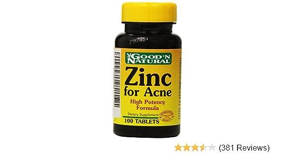 Amazon Com Zinc For Acne 100 Tabs Good N Natural Health