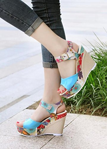 Bovake Slope Platform Sandals Sandals Toe Fish Ladies Women Shoes Summer Shoes Women Heeled High Summer Wedges Mouth APwrExqAZ