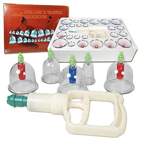 HQ Set de ventosas 24 Tazas (con imanes) Vacío para Terapia de Ahuecamiento Masaje / Kit Anti-cellulite / Productos de saludable cuidado Chino Tradicional Trauter b24