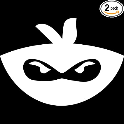 Amazon.com: NBFU DECALS Angry Ninja FACE (White) (Set of 2 ...