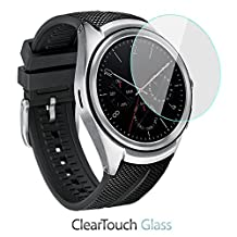 LG Watch Urbane 2nd Edition Screen Protector, BoxWave® [ClearTouch Glass] 9H Tempered Glass Screen Protection for LG Watch Urbane 2nd Edition