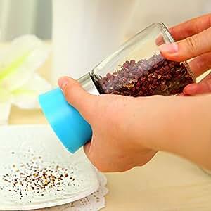 WP-TT®cooking tools salt/pepper burnisher,spice grinder creative kitchen seasoning bottle manually sesame pepper mill freeshipping Random Color