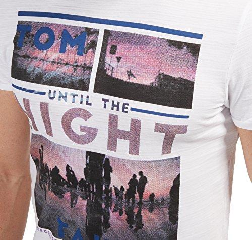 Tom Tailor für Männer T-Shirt T-Shirt mit Foto-Print white02 S