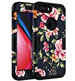 iPhone 7 Plus Case,iPhone 8 Plus Case TOPSKY Three Layer Heavy Duty High Impact Resistant Hybrid Protective Cover Case For Apple iPhone 7Plus/8Plus,Flowers Blue