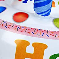 Relaxdays Tarta Hinchable Happy Birthday, Multicolor, PVC, 20 x 26 ...