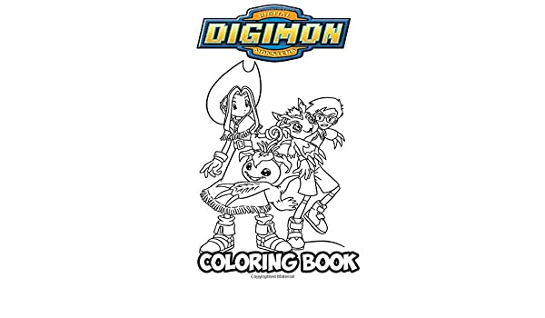 Digimon Coloring Book Coloring Book For Kids And Adults