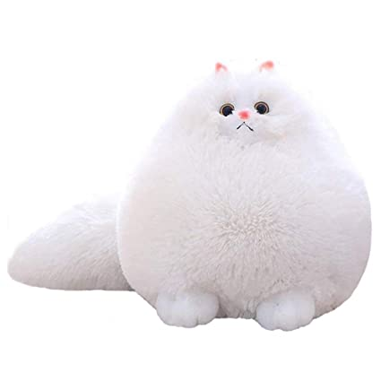 fc6ba9cb52e1 Amazon.com: happyday04 Funny Plush Fluffy cat Persian cat Toy Pillow Soft  Stuffed Animal Belly Doll Baby Children's Toy Gift: Home & Kitchen