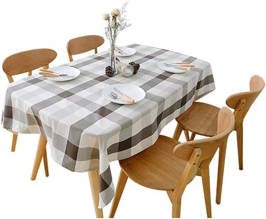 Tela Escocesa a Rayas manteles de algodón Mesa de Centro Mesa de Comedor Rectangular nórdico jardín Moderno pequeña Sala de Estar Fresca Cocina Mantel Restaurante manteles: Amazon.es: Hogar