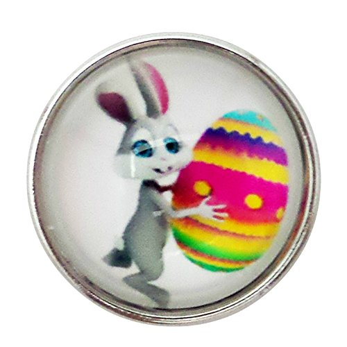 - Chunk Snap Charm Easter Bunny and Egg 20mm, 3/4