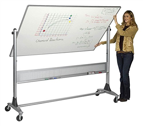 Projection Plus Porcelain Platinum Reversible Boards (72 in. W x 48 in. H (173 lbs.)) by Best-Rite