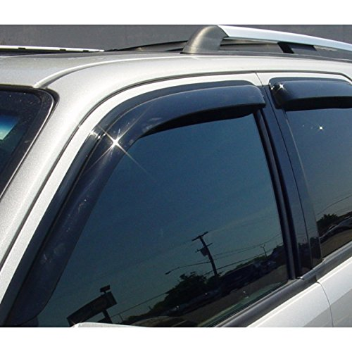 Alxiang Front + Rear Smoke Sun/Rain Guard Vent Shade Window Visors Fit 00-06 Chevrolet Tahoe 02-06 Cadillac Escalade Base 4pcs