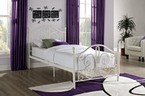 DHP Bombay Metal Bed, Twin, White