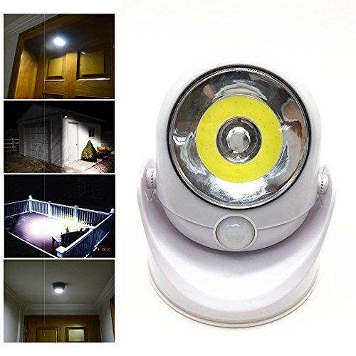 Sensor Light LED Light,coersd 360-Degrees Light Cordless Motion Activated Sensor Light LED Light Swivels from coersd