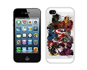 Captain America Case For iPhone 4S/4 White