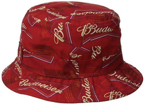 Budweiser Men s Reversible Solid To All Over Print Bucket Hat ... 1ae9b86ba98