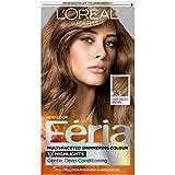 L'Oréal Paris Feria Permanent Hair Color, 63 Sparkling Amber (Light Golden Brown)