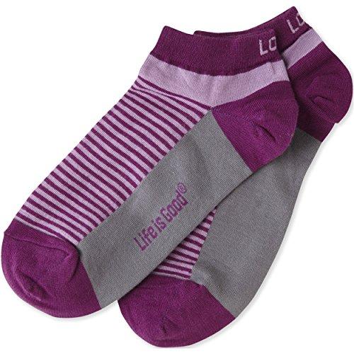 Life is good Women's Low Cut sock Stripe Love Orchid