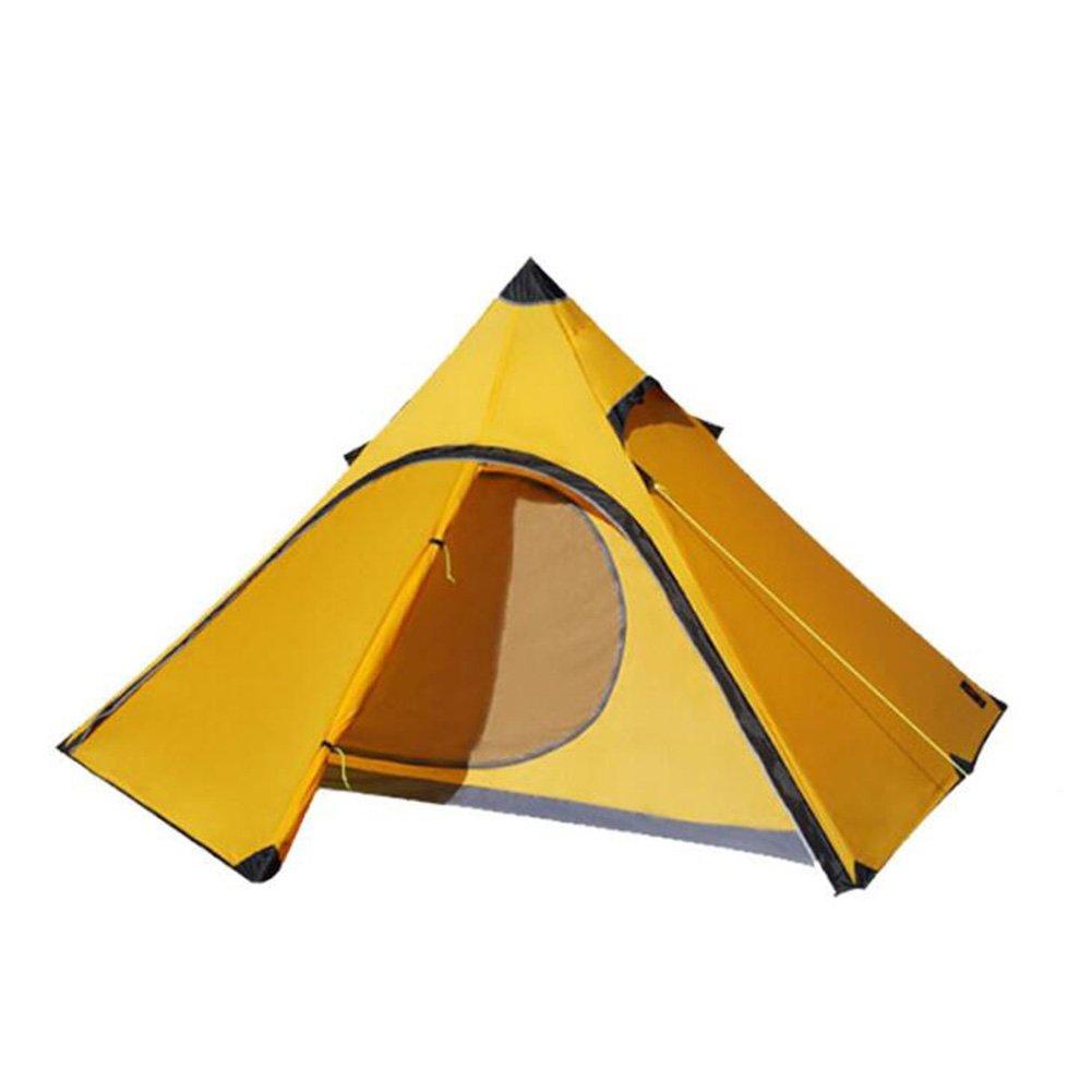 Pyramid Tent One Account Ultraligero 20D tienda de nylon de silicona al aire libre Double Four Seasons tienda ligera tienda de campaña para acampar senderismo escalada ( Color : A )