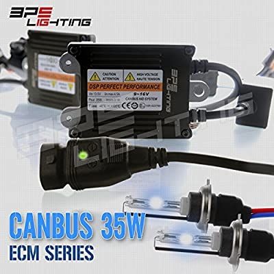 BPS Lighting ECM Series Canbus AC 35w HID Xenon Conversion Kit w/ Premium Ballast With Quick Start Technology Perfect to Replace Halogen Headlight & Fog Lights - 2 Years Warranty W/ Tech Support