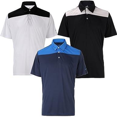 Woodworm 3 Pack Panel Polo Camisas de Golf para Hombre, Hombre ...