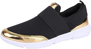 Chaussures décontractées pour Femmes/Chaussures Plates pour Mocassins légères en Mesh/Chaussures de Course à Pied/Chaussures de Sport athlétiques/Légères et Confortables