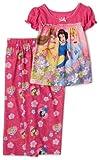 Disney Princesses Short Sleeve Pajama Set, 2 Piece, Pink, 18 Months