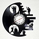 "Death Star Vinyl Record Wall Clock – Get unique bedroom or home room wall decor – Gift ideas for friends, women and men ??"" Star Wars Unique Art Design For Sale"