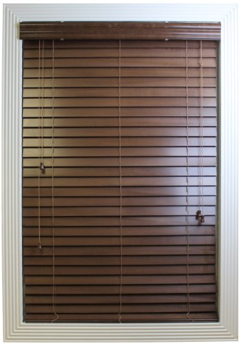 Wood Venetian Blinds (Calyx Interiors Real Wood Venetian Blind, 40-Inch Width by 60-Inch Height, Pecan)