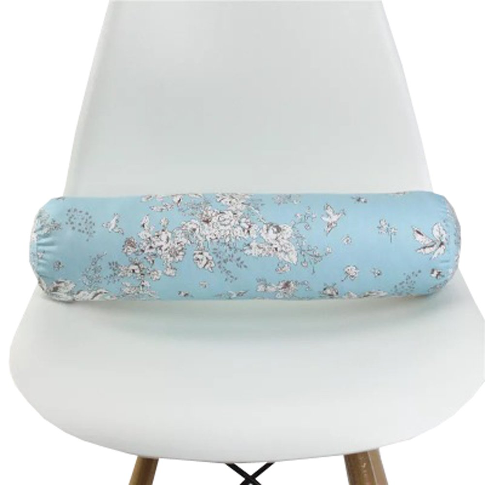 Type-1, Small TRENDY XU Colorful Flower Printed Cylinder Cushion for Sofa Neck Pillow