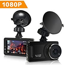 Dash Cam, TIMPROVE Car Camera FHD 1080P 3 inch Screen 170 Wide Angle Dashboard Camera Recorder with Built-in Night Vision, G-Sensor, WDR, Loop Recording, Motion Detection, and Parking Monitor