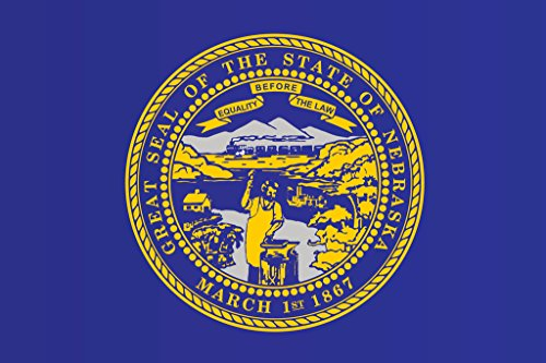 Nebraska State Flag Poster 12x18 inch
