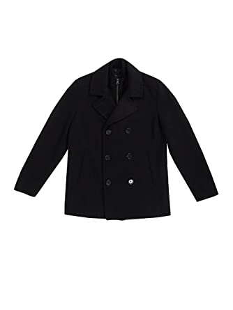 dd2e7df7c5 I-N-C Mens Double Breasted Pea Coat at Amazon Men's Clothing store: