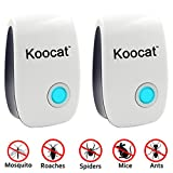 2-Pack Ultrasonic Pest Control Electronic Plug -In Repeller for Insects, Best Repellent Equipment for Mice, Rodents, Cockroach, Flies, Roaches, Ants, Spiders, Fleas, Bugs